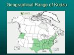 geographical range of kudzu
