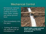 mechanical control