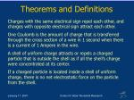 theorems and definitions