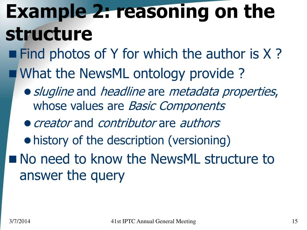 Example 2: reasoning on the structure