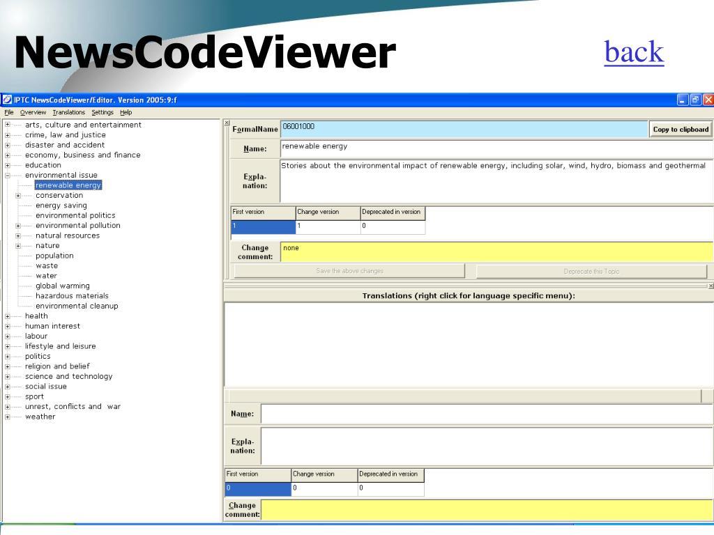 NewsCodeViewer