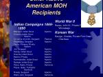 other native american moh recipients