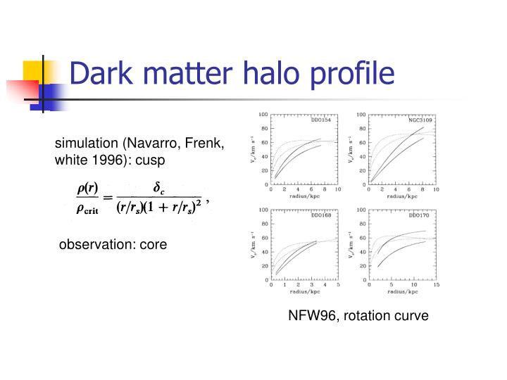 Dark matter halo profile