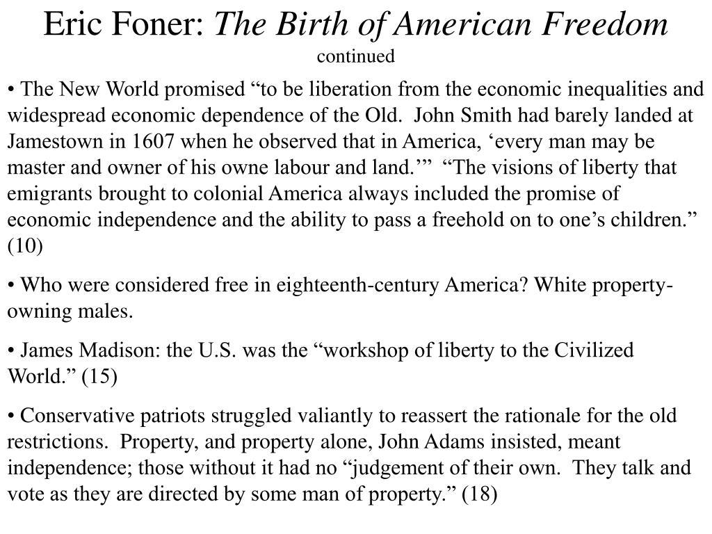 Eric Foner: