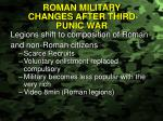 roman military changes after third punic war