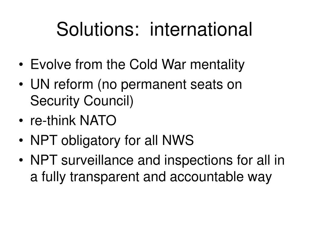 Solutions:  international