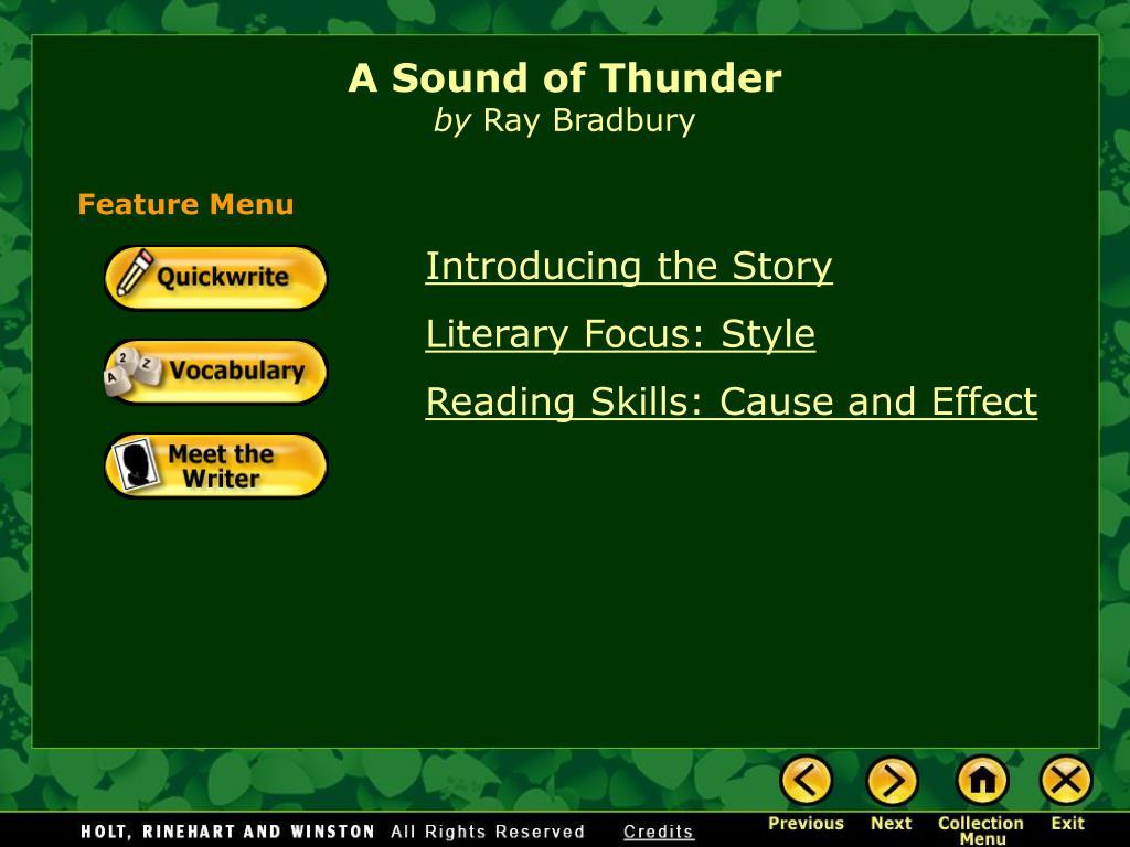 a sound of thunder by ray bradbury l.