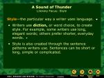 a sound of thunder literary focus style