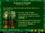 a sound of thunder literary focus style8