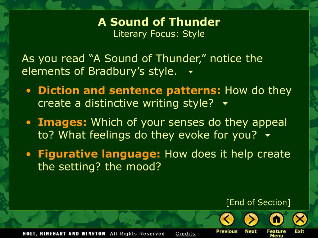 a sound of thunder analysis essay
