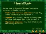 a sound of thunder literary focus style9