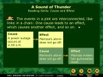 a sound of thunder reading skills cause and effect
