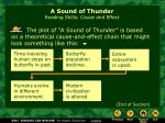 a sound of thunder reading skills cause and effect11