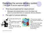 designing the service delivery system the cycle of service approach 8 9