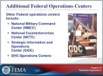 additional federal operations centers