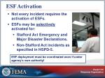 esf activation
