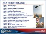 esf functional areas