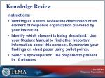 knowledge review