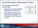 local emergency operations center