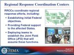 regional response coordination centers