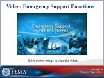 video emergency support functions