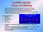 alfred adler theory of inferiority