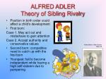 alfred adler theory of sibling rivalry