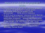 when is an eis to be prepared sepa