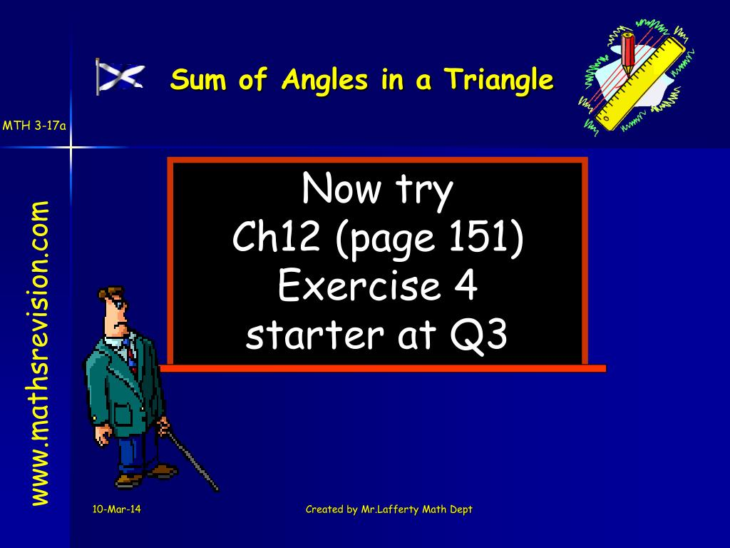 Sum of Angles in a Triangle