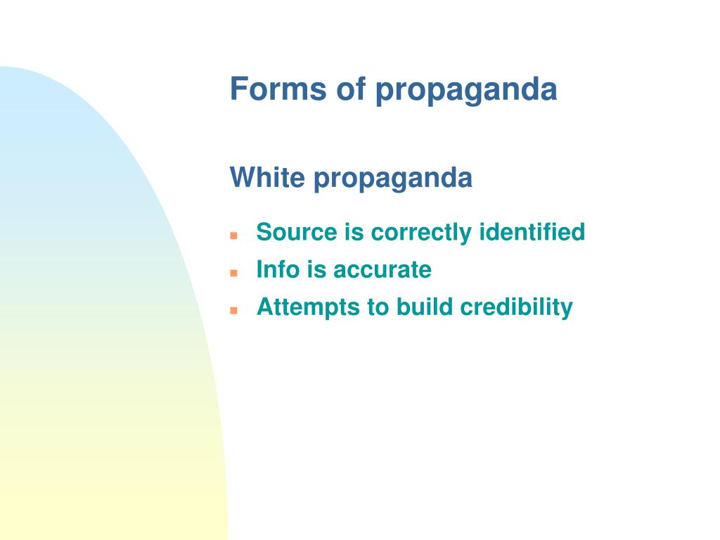 Forms of propaganda