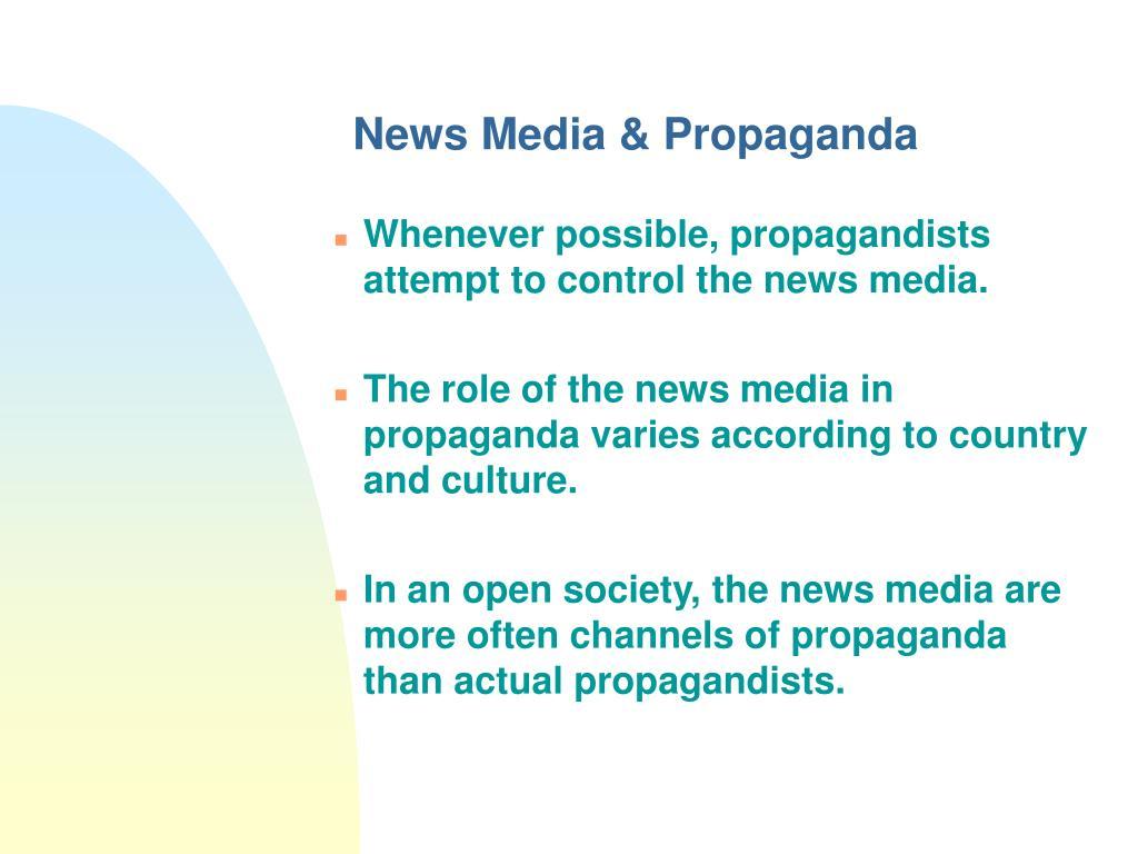 News Media & Propaganda