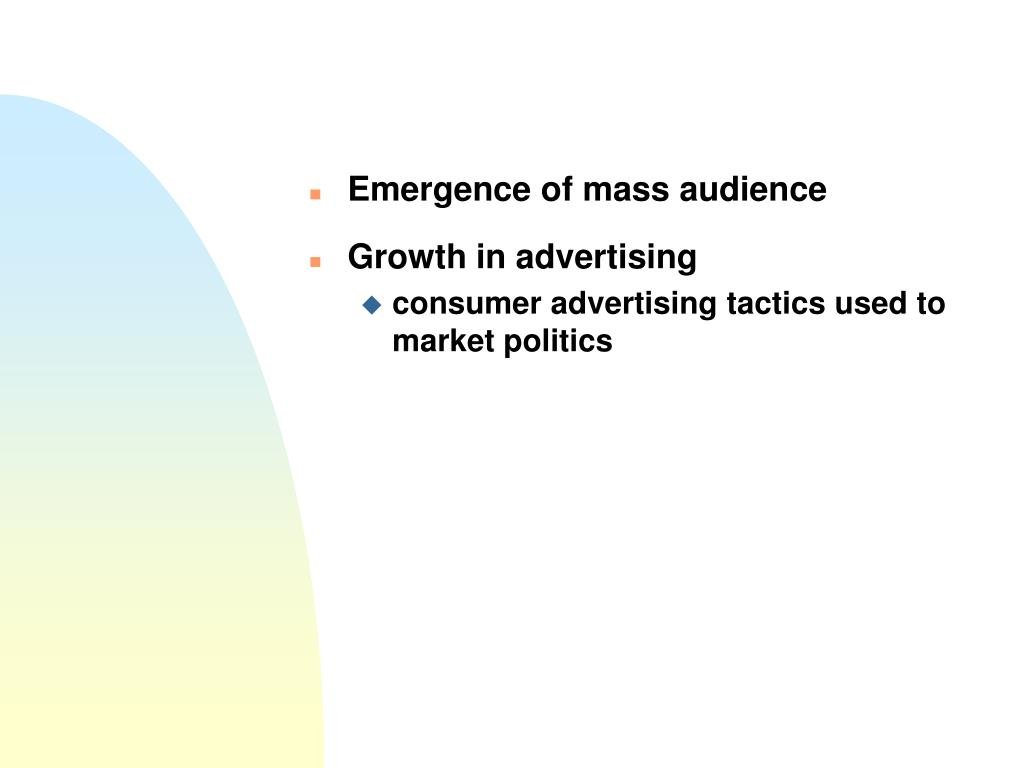 Emergence of mass audience