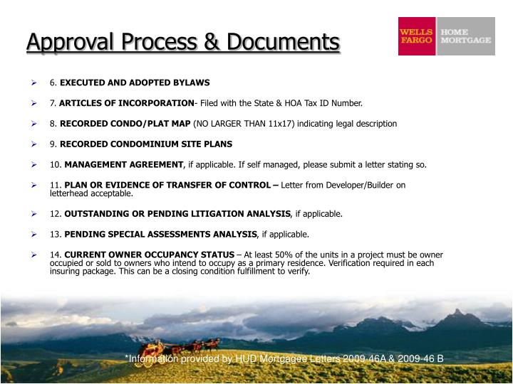 Approval Process & Documents