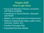angola 2020 how to get there
