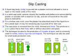 slip casting