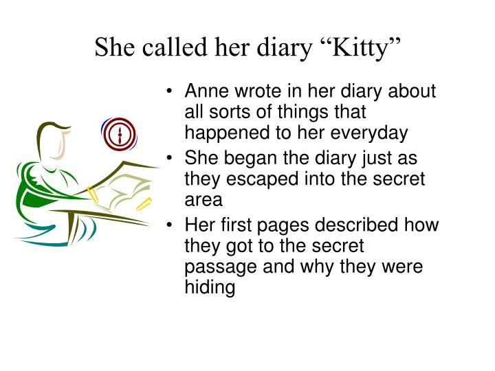 """She called her diary """"Kitty"""""""
