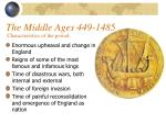 the middle ages 449 1485