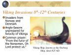 viking invasions 8 th 12 th centuries