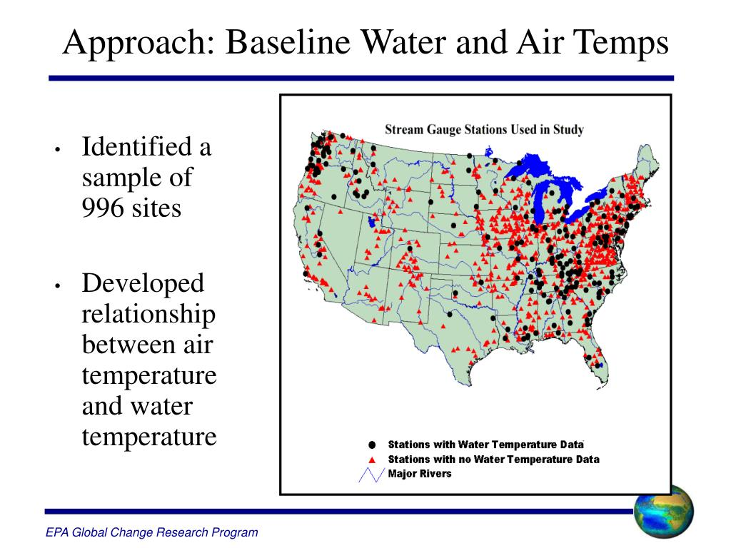 Approach: Baseline Water and Air Temps