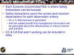 safety interaction or ptos