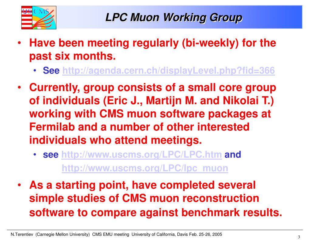 LPC Muon Working Group