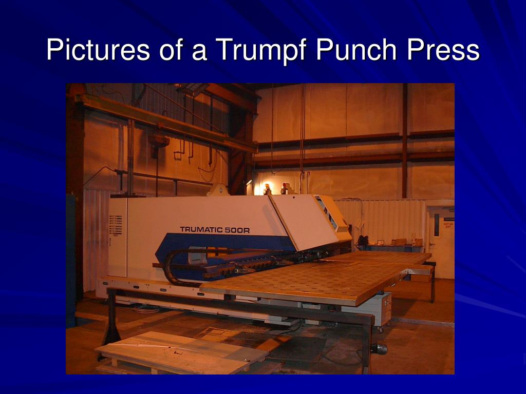 Pictures of a Trumpf Punch Press