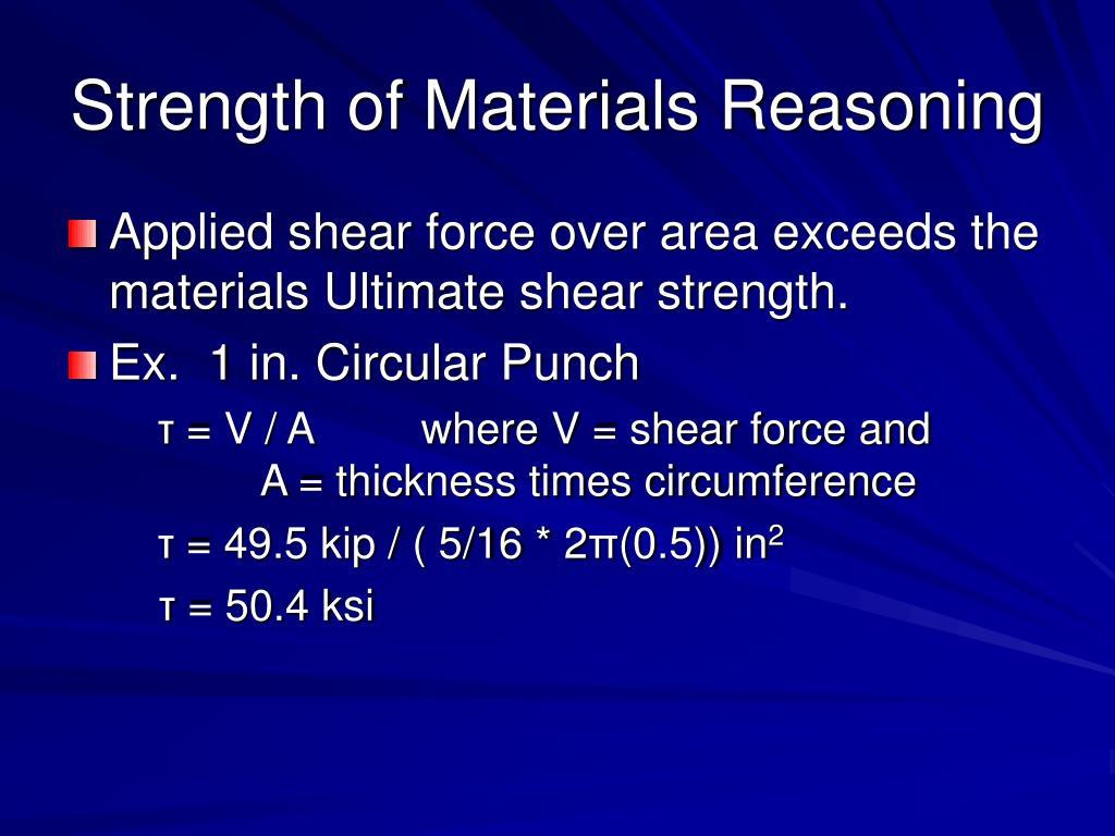 Strength of Materials Reasoning