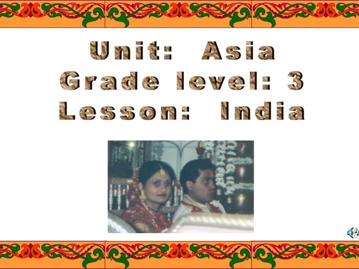 Unit:  Asia