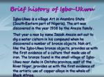 brief history of igbo ukwu