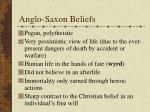anglo saxon beliefs