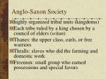 anglo saxon society