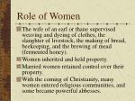 role of women