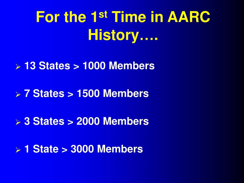 13 States > 1000 Members