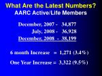 what are the latest numbers aarc active life members